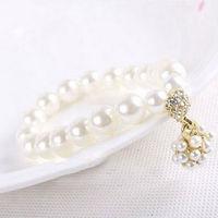 2013 New Arrival Free Shipping Vintage Big Pearl Bracelet Fashion Alloy Bracelet Wholesale And Retail BL0128