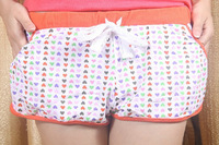 Free shipping 2013 korean pure cotton printed sport leisure hot plants, Household knickers, Female pyjamas, beach shorts