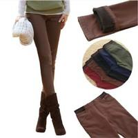 7 Colors S-XXXL Winter Warm Fleece Plus Size Pants Women Tight Trousers For Women