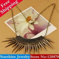 Min Order $5 Mix PL21707 fashion  vintage rivets tassel hammer necklace female