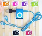 MINI clip MP3 Player with Micro TF/SD card Slot with cable/USB+earphone No retail box Free shipping mp3 players(China (Mainland))