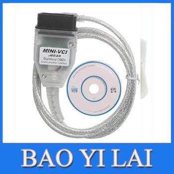 MINI VCI Interface FOR TOYOTA TIS Techstream V8.10.021, MINI VCI J2534 OBD2 diagnostic tool Car Code Scanner