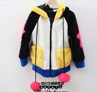 Free shipping autumn and winter fashion girl penguins cute adorable children set necessary invincible Po