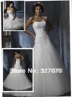 2014 Hot Sale 100% Guarantee Tulle Fabric Custom Made Small Tail Lace Mermaid Wedding Dress