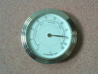 """2.1"""" Analog Humidor Hygrometer with Glass Face Hygrometer for Humidors  Cigar Hygrometer 1pc/lot"""