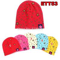 10pcs/lot Sequin Stars 2-Layer Baby Beanie Hat Cap Spring Autunm Infant Cap Cotton Infant Cotton Hat Skull Cap Toddler Caps