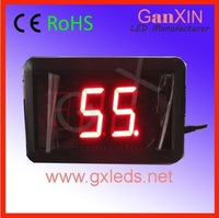 1.8inch high quality red indoor aluminum frame digital electronic countdown clock