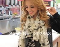 2013 Fashion Bright Color Beauty Marilyn Monroe Scarf Chiffon Free shipping Women's Yarn Thin Viscose Scarf  Long shawl wrap