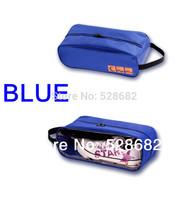 Free Shipping handbags blue black nylon soft totes for men and women shoe bag