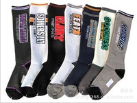 2013 New Arrival Boy's Football Socks,Letter Pattern,10pair/lot,100%Cotton,Spring&Autumn&Winter,Free Shipping