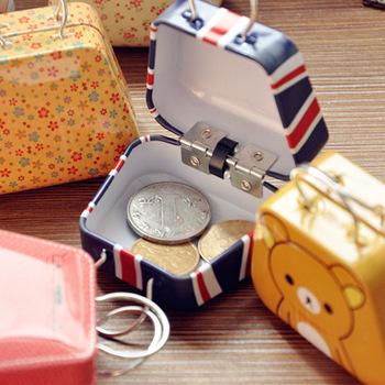 Creative Storage,mini handbag,small tin bag,candy box,cartoon cute coin box