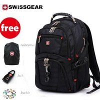 free shipping ,SWISSGEAR brand desinger stylish leisure laptop backpacks,travel computer school knapsack luggage pack