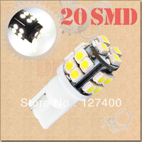 DHL free shipping 100pcs T10 20 SMD License Plate Pure White 194 W5W 20 LED Car Light Bulb Lamp