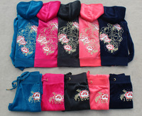 Free shpping  parent-child children's wear velvet Children Hoodies+Pants women's and children style,4 color 8414