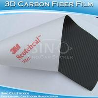 1.52x30M 5FTx98FT Free Shipping Air Free Black 3M 3D Carbon Fiber Film