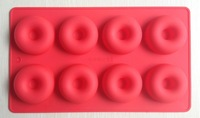 Free shipping 1PCS Donut shape round Muffin Sweet Candy Jelly fondant Cake chocolate  Mold Silicone tool Baking Pan DIY