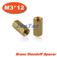 500pcs/lot Brass Standoff Spacer M3 Female x M3 Female 12mm (Free Shipping)