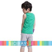 Free Shipping New Boy Sports Wear 2014 Summer Baby Shorts Sets Kids Clothing Set  K0981