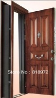 Turkish Style Adjustable Frame Fire-Proof  Bullet-Proof Security Exterior Steel Wood Armored Door
