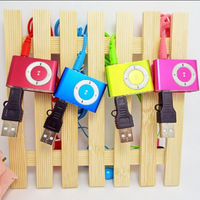 Free Shipping cheap High quality clip mp3 music player with card slot mini mp3 player 8 colors
