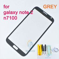 Replace GREY lens replacement for samsung galaxy note 2 n7100 outer screen touch front glass one piece FREE shipping with tools