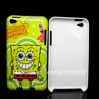 free shipping,the lovely Spongebob Squarepants Hard Skin Cover Case for iPod Touch 4 4G 4th Gen