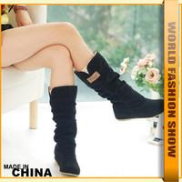 Free Shipping,2013 Newest Winter Woolen Lady Snow Boots,Brand Hidden Wedge Heel Sexy Women Knight winter Boots JHB136