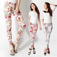 2013 ladies Printed jeans denim pants women's stretch skinny Korean retro trend wild floral Pencil pants