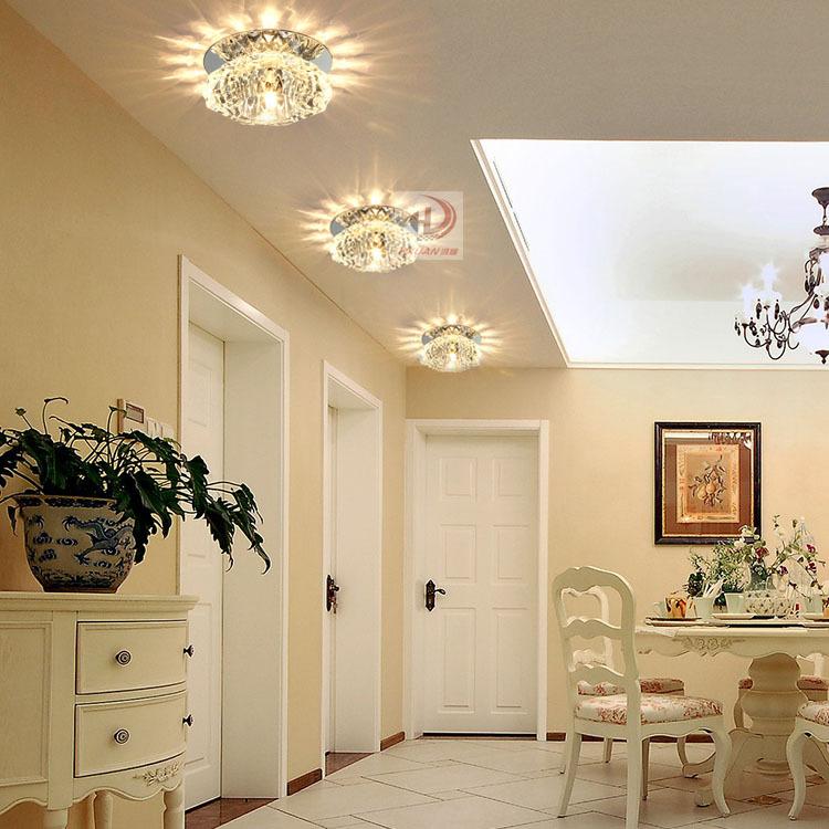 lampada da soffitto a led lampada di cristallo luci luci di corridoio ...