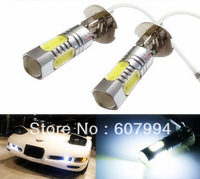 2pcs/lot H3 7.5W hight power SMD LED Turn Brake Stop Signal  Fog Day Running Bulb Light Lamp For Auto Car DC12V-24V White