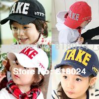 Retail 2014 Fashion Baby Baseball Caps Cotton Baby Hats and Caps Take Boys Girls Sunbonnet Visor 2-6 Year Free Shipping