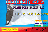 "[cnklp]- New Arival-4"" x 5.3"" 101mm x 135mm+45mm -900pcs/lot- WHITEPOLY MAILERS BAGS ENVELOPE/ A+ Quality"