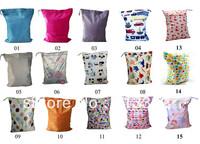 Waterproof Baby Diaper Bag One Zipper Closure Cloth Mother Wet Bag Wholesale