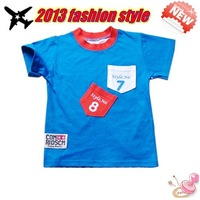 free shipping Wholesale 2014 Children High Quality Boys t-Shirts Kids children boy Summer Wear t Short Clothing 4 Colors 1~5Age