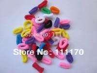 1LOT=3BAGS= 300pcs Kids Baby Girl Tiny Cloth Rainbow Hair bands Elastic Ties Ponytail Holder  J007