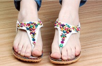 New 2014 flip flops flats sandals slipper for women bohemian beaded chinelos sapatos sandalias sapatilhas femininas women shoes