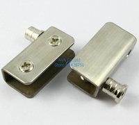 Glass Door Pivot Hinges Clamp Clip / Stainless Steel / For 5-9mm Glass Door