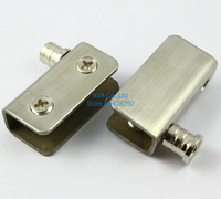 Glass Door Pivot Hinges Clamp Clip / Stainless Steel / For 5-9mm Glass Door