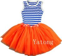 Free Shipping 2014 Ballet Dance Tutu Dresses For Girls Baby Girl Tulle Summer Dress Kids Party Wear Children's Chiffon Dress