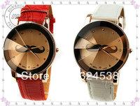 Lady Fashion Mustache Watch Leather Band Quartz Wristwatches Women Dress Watch men