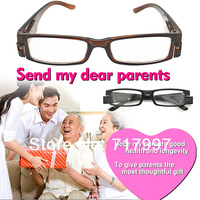 fashion style+2.0 Strength Black LED Reading Glasses-presbyopic glasses with LED light RG-123 gafas de lectura