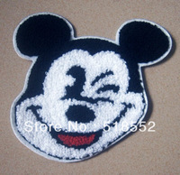 15pcs 12*12.5CM Diy handmade sewing sweater fabric embroidered towel MICKEY MOUSE applique 12cm 12.5cm  B210