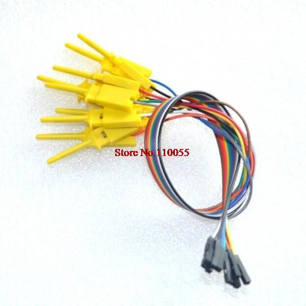 50pcs,Quality test of the quality test hook clip. Logic analyzer test folder. For USB 24M 8CH