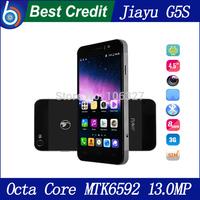"In stock Original JIAYU G5 G5s phone mtk6592 1.7Ghz 13.0MP 4.5"" IPS Gorilla glass screen android 4.2 3G smartphone/Eva"