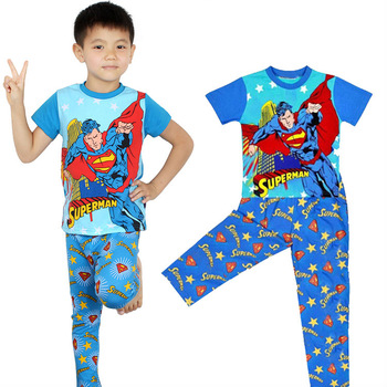 fashion cartoon children pajama sets,long sleeve toddler baby kids clothing sets,cotton girls boys sleepwear,child nightwear pjs
