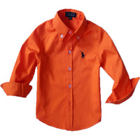 Free shipping Children 16 colors cotton full-sleeved shirt