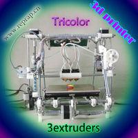 He3D-triclor 3d printer reprap mendel multicolor tricolor   kit  diy  open source  Three nozzles