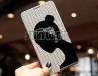New arrival Luxury Bling Diamond Earring Flip Leather Wallet Cover Case For phone Samsung Galaxy S3 S4 S5 Note3/2#10 SV006551