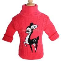 2014 hot baby Cartoon sweater boy girl child sweater baby turtleneck sweater children outerwear sweater B19 SV006395
