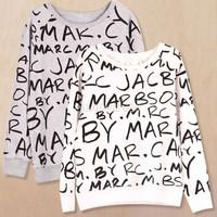 Autumn Hoodies Women O-neck Letters Printed Pullovers Long Sleeve Sweatshirt Drop Shipping B21 CB932627